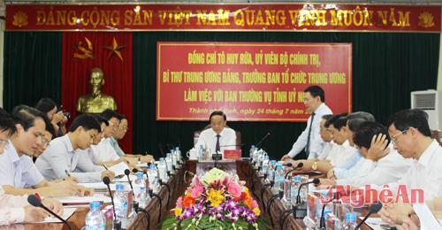 dong-chi-to-huy-rua-lam-viec-voi-ban-thuong-vu-tinh-uy-nghe-an